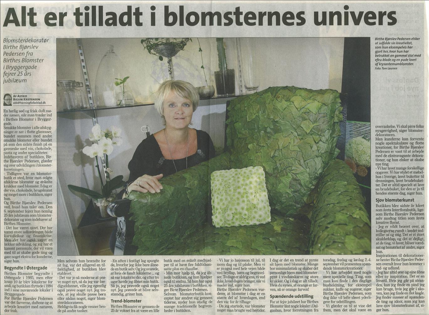 25 års Jubilærum   Birthes Blomster