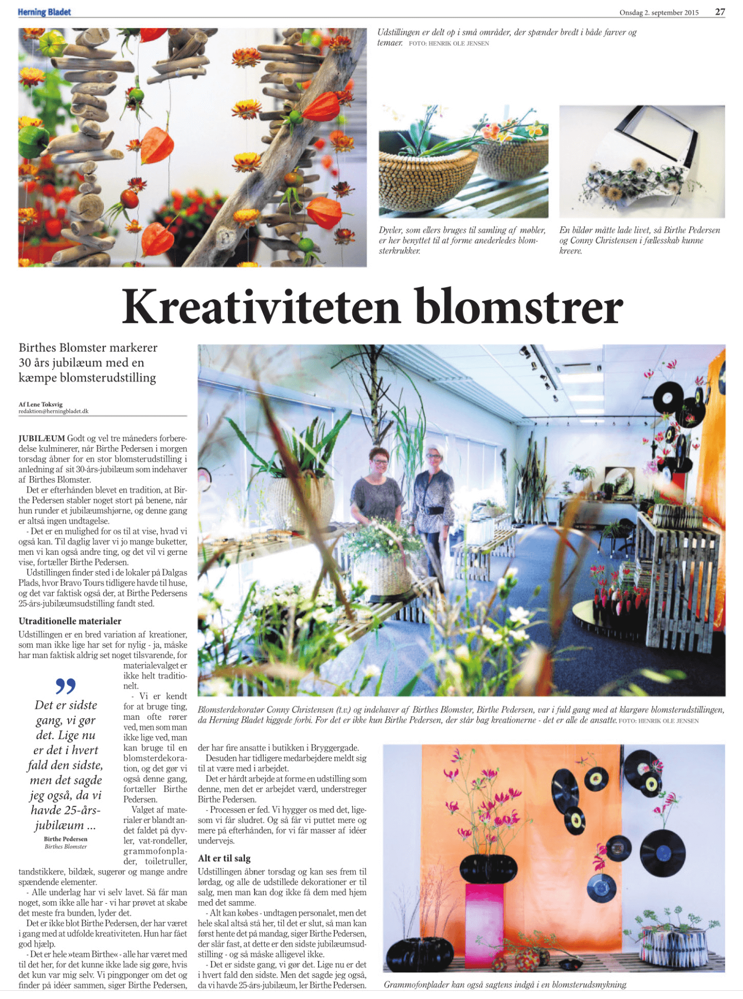 Kreativiteten | Birthes Blomster
