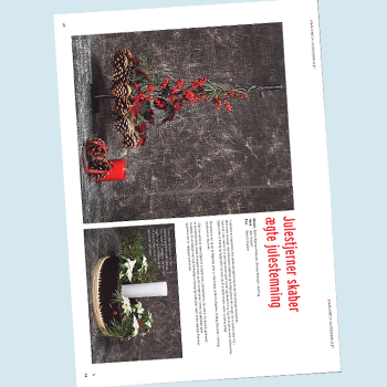 Birthes Blomster | Blomster Bladet December 2017