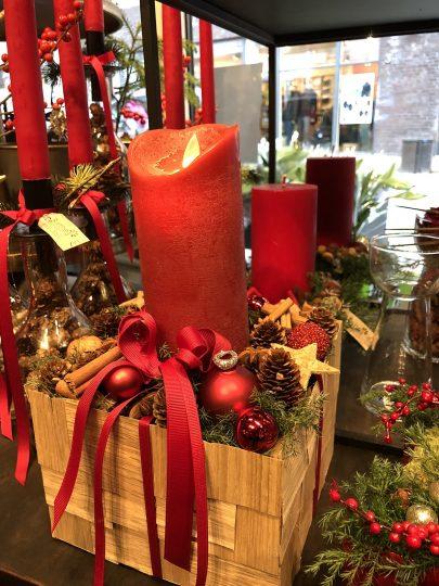 Rød jul hos Birthes Blomster